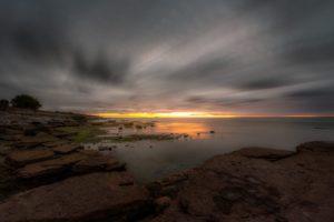 Öland - strans i solnedgången - Ludwig Sörmlind
