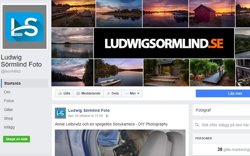 Dela bilder på nätet - De 5 bästa bilddelninssajterna Facebook - Ludwig Sörmlind