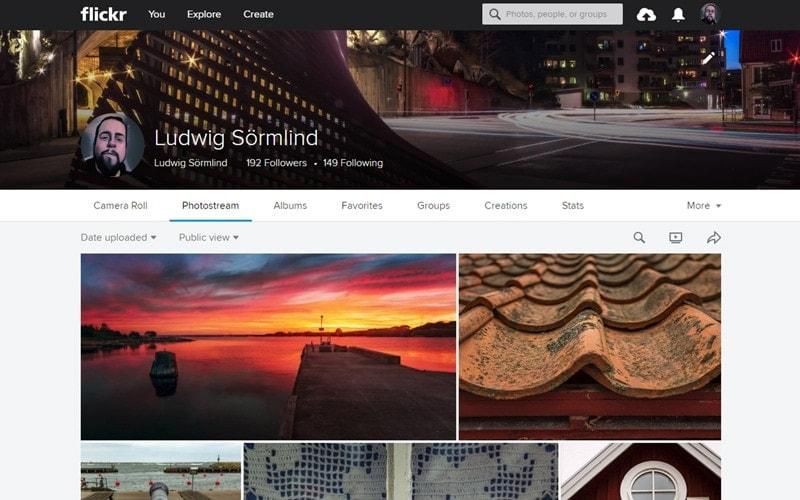 Dela bilder på nätet - De 5 bästa bilddelninssajterna Flickr - Ludwig Sörmlind