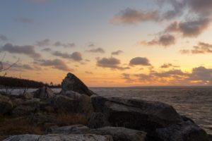 Sternö Sandvik i solnedgången utanför Karlshamn - Ludwig Sörmlind
