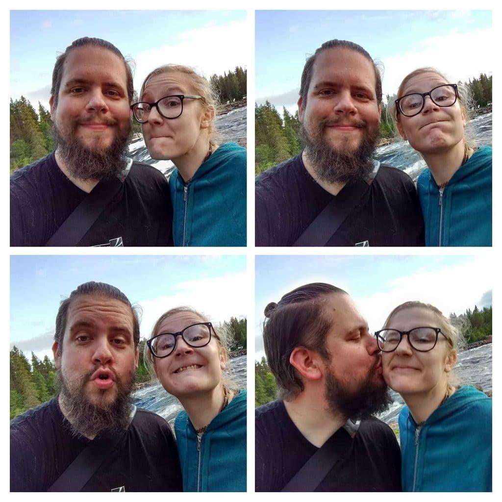 Selfie vid Kalixälven - Ludwig Sörmlind