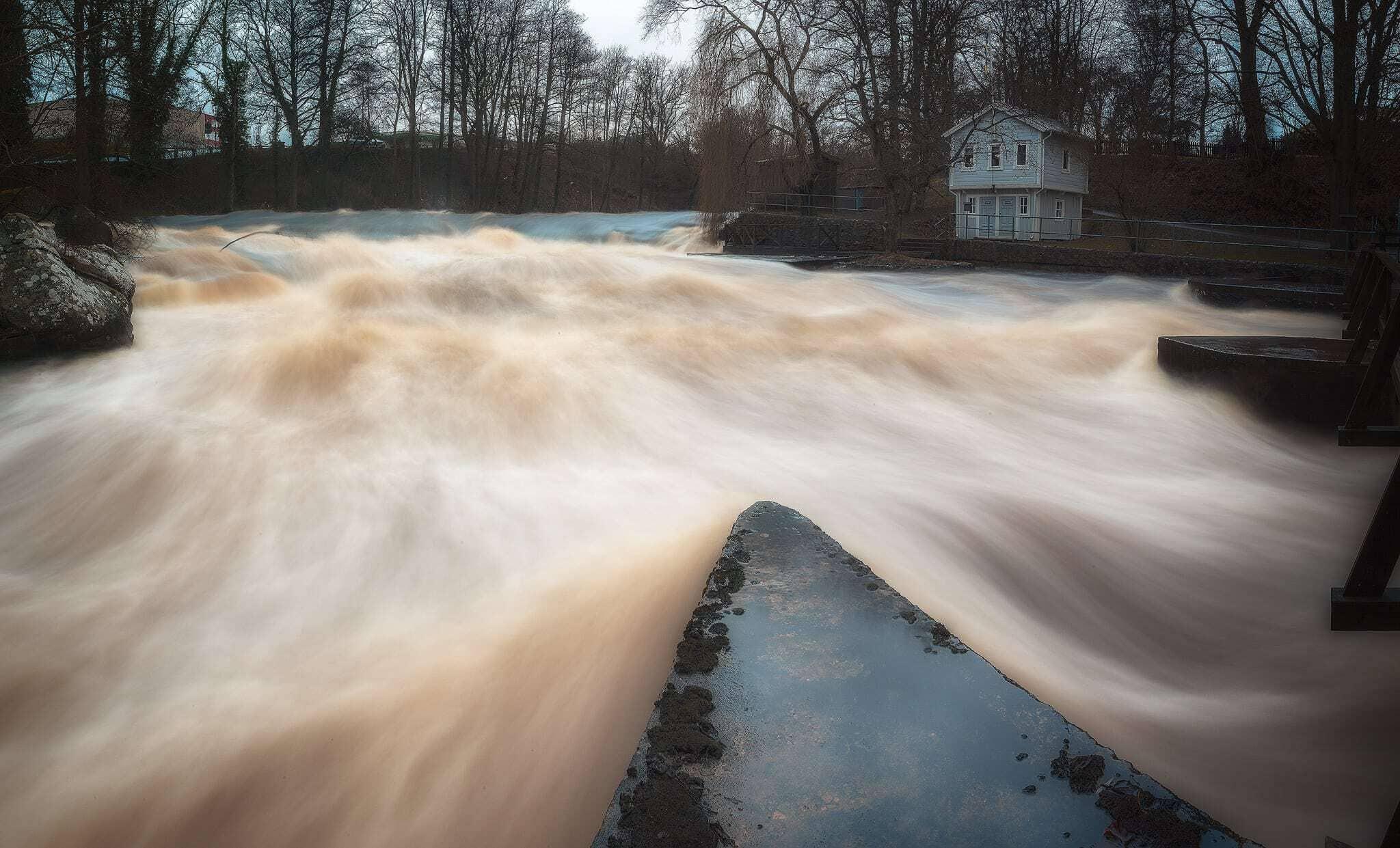 Mörrumsån - Högt vattenflöde - Ludwig Sörmlind