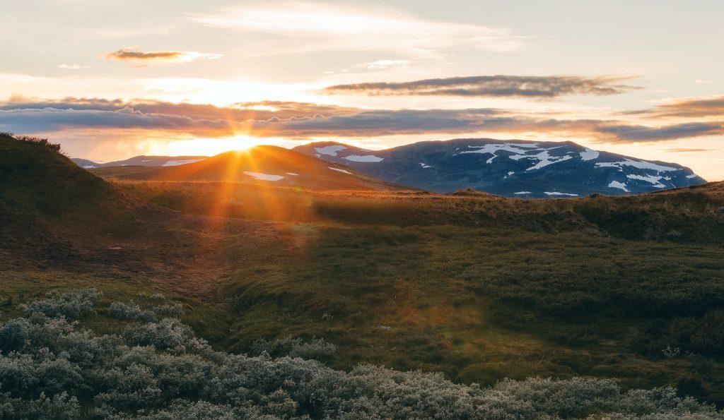 Stekenjokk i solnedgången / Stekenjokk during the sunset