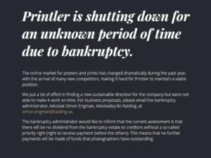 Printler har gått i konkurs